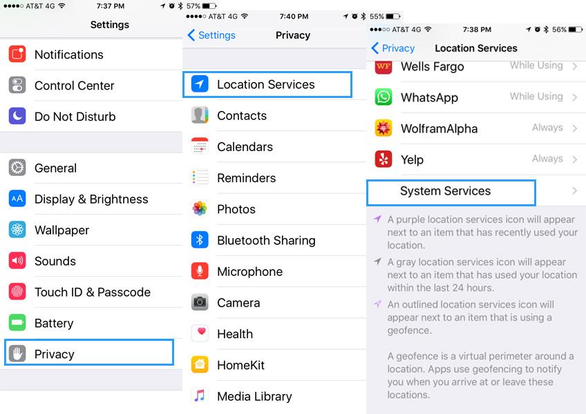 apple configuracion privacidad
