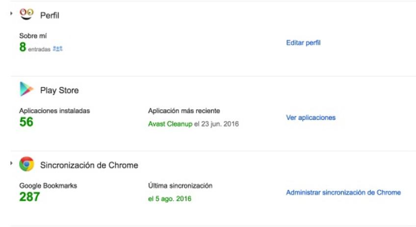 google aplicaciones y otros servicios