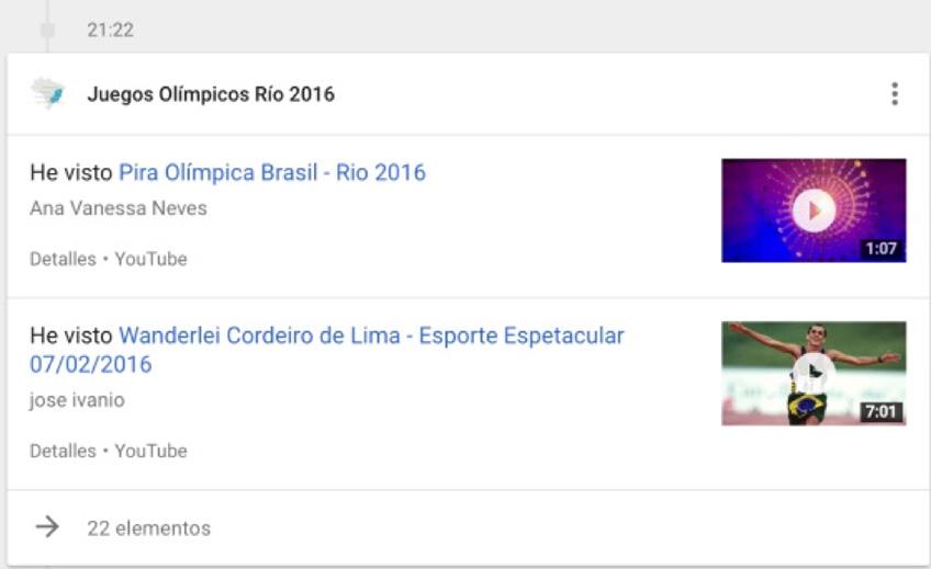google historial de busqueda en youtube