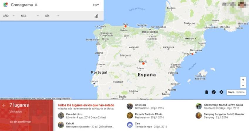 google historial de ubicaciones