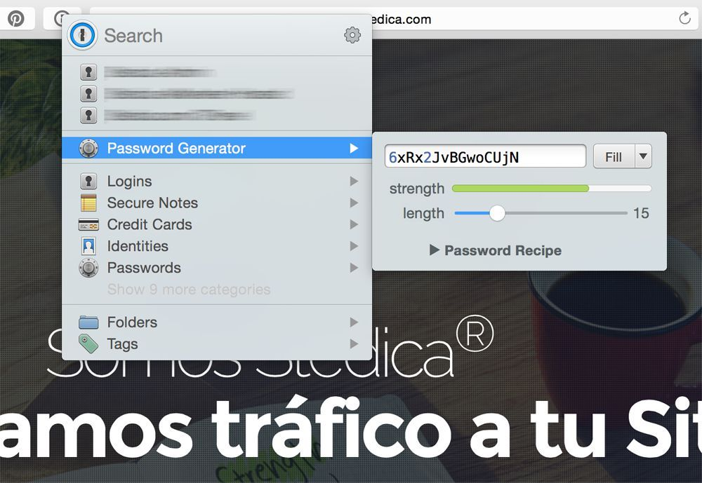 1password generador