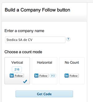 Seguir una empresa en LinkedIn