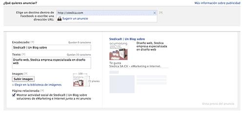 url externa anuncio facebook