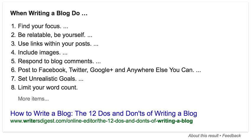 google answer box blogdigital