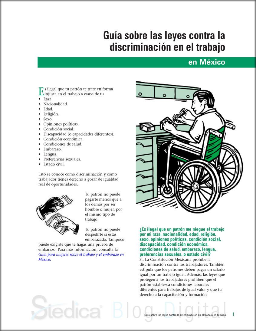 Guia sobre las leyes contra la discriminacion en el trabajo
