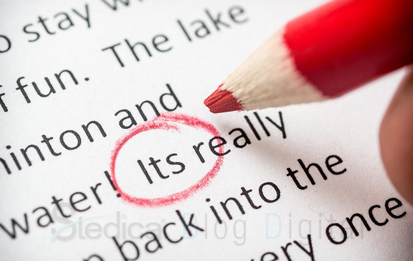 como corregir un blog