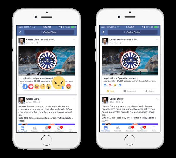 reacciones facebook emoji
